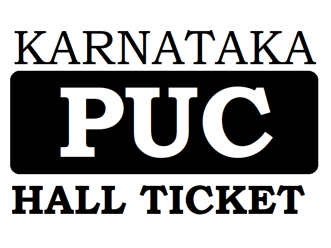 Karnataka PUC Hall Ticket 2021