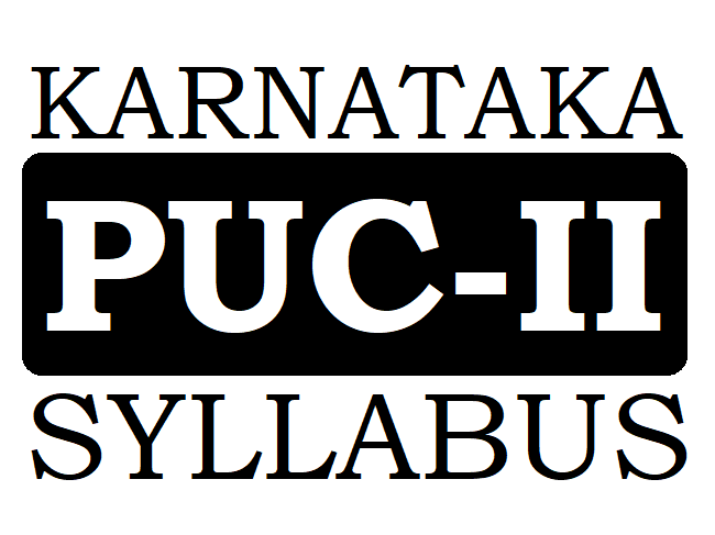 Kar PUC Syllabus 2020
